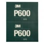 3M™ Hookit™ 34339 Лист Абразивный, гибкий, Р600, 170 мм х 140 мм, 25 шт./кор., 5 кор./уп.