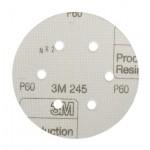 3M Hookit Шлифовальный Круг 245, 6 отверстий, 150 мм, P60, 50 шт/уп, № 01690