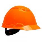 3M™ Каска защитная  H-701N-OR без вентиляции, с храповиком, цвет оранжевый