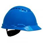 3M™ Каска защитная  H-700N-BB с вентиляцией, с храповиком, цвет синий