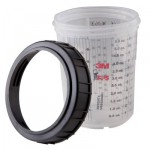 3M PPS 16115 Мини-бачки PPS Смесительные - 165 мл, 2 шт.; кольца запорные - 2 шт., 4 наб./уп.
