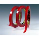 3M™ 6893 Лента на ПВХ основе, красная, 9 мм x 66 м