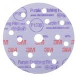 3M™ Hookit™ 260L Purple 51154 Круг  Абразивный, полировальный, 15 отверстий, Р1500, 150 мм, 50 шт./кор., 5 кор./уп.