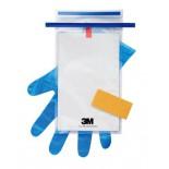 3M™ Hydrated-Sponge Губка Увлажненная для Отбора Проб с 10 мл нейтрализующего буфера, перчатки и пакет, HS10NB2G, 100 шт/ящ