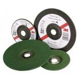 3M™ Green Corps™ Гибкий Зачистной Круг Т27, 125 мм х 3,0 мм х 22 мм, A 80 H BF, 1 набор/уп (20 шт + 2 оправки), № 60637