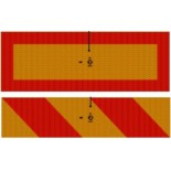 3М™ Комплект Задних Опознавательных Знаков для большегрузного и длинномерного транспорта, левый и правый, 400 х 196 мм
