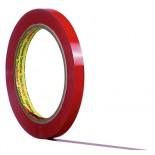3M™ 6893 Лента на ПВХ основе, красная, 12 мм x 66 м