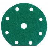 3M 00315 Круг 245 Hookit абразивный, зеленый, 9 отверстий, Р80, 150 мм., 50 шт/кор., 5 кор/уп