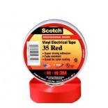 Scotch ® 35, красная, изоляционная лента высшего класса, 19мм х 20м х0,18мм