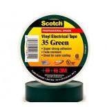 Scotch ® 35, зеленая, изоляционная лента высшего класса, 19мм х 20м х0,18мм