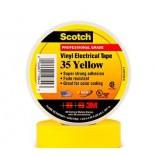 Scotch ® 35, желтая, изоляционная лента высшего класса, 19мм х 20м х0,18мм