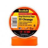 Scotch ® 35, оранжевая, изоляционная лента высшего класса, 19мм х 20м х0,18мм