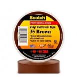 Scotch ® 35, коричневая, изоляционная лента высшего класса, 19мм х 20м х0,18мм