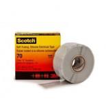 Scotch ® 70, самослипающаяся. силиконовая резиновая изоляционная лента, 25мм х 9м