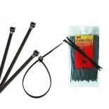 FS 200 AW-C Кабельный хомут (стяжка) для использования вне помещений, устойчивый к УФ, черный,100 штук в упаковке, 200мм х 2,5мм