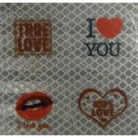 """Самоклеющиеся световозвращатели """"LOVE YOU"""""""